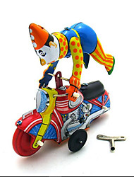Novelty Toy  Pretend Play  Puzzle Toy  Wind-up Toy Novelty Toy  Motorcycle  Metal Yellow For Kids