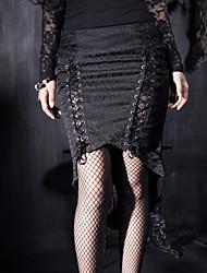 панка рейв q-182 женщин год сбора винограда / сексуальные / случайные микро-упругой среде асимметричные юбки