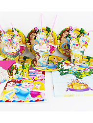 Disney Princess 92pcs Birthday Party Decorations Kids Evnent Party Supplies Party Decoration 12 People use