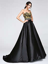 2017 TS Couture® Formal Evening Dress A-line Sweetheart Floor-length Satin with Sequins