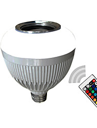 E27 Smart LED Bulb Light Dimmable 12W RGB RGBW Wireless Bluetooth Speaker Music Playing LED Lamp with Remote Control
