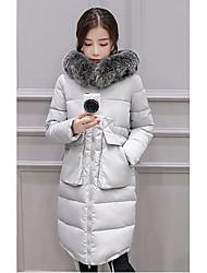 Women's Solid Multi-color Padded CoatSimple Hooded Long Sleeve