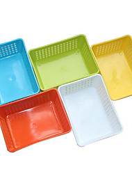 Mini Plastic Drain Basket Fruit Basket Storage Basket Debris Basket (Random Colors)