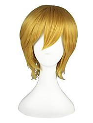 Cosplay Perücken Kuroko kein Basket Kise Ryota Gold Kurz Anime Cosplay Perücken 35 CM Hitzebeständige Faser Mann / Frau