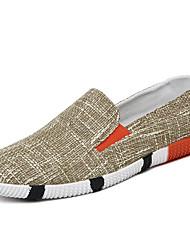 Men's Loafers & Slip-Ons Spring Summer Fall Winter Comfort Fabric Casual Flat Heel Black Blue Beige