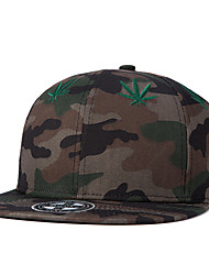 New Men Women Camouflage Top Weed Leaf Embroidery Street Dance Hip Hop Baseball Caps