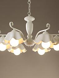 Ceramic Chandelier/ 6 Lights/ Country/ Painting Metal/ Living Room / Bedroom / Dining Room/220V or 110V