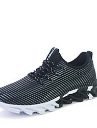 Da uomo-Sneakers-Tempo libero / Casual / Sportivo-Comoda-Piatto-Di pelle-Nero / Nero e oro / Nero e bianco