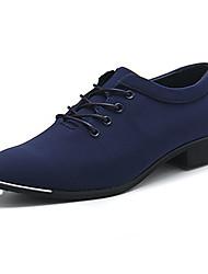 Femme-Décontracté / Sport-Noir / Bleu-Talon Plat-Bout Arrondi-Sneakers-Polyuréthane