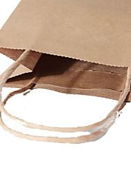 saco de papel kraft verde vestuário pequeno saco de jóias sacos de presente impresso um pacote personalizado de dez 15 * 8 * 21