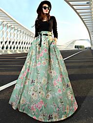 VERRAGEE A word skirt of tall waist pleated skirt long skirts