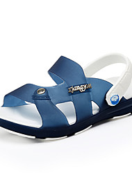 Boy's Sandals Summer PU Casual Flat Heel Others Blue Green Royal Blue Walking