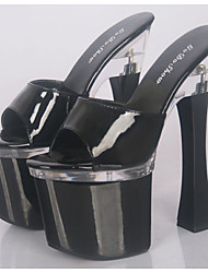 Patent Leather Summer Heels / Slippers Heels Wedding / Party / Casual  Heel/Stage catwalk fashion model
