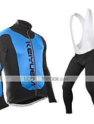 KEIYUEM®Spring/Summer/Autumn Long Sleeve Cycling Jersey+Long Bib Tights Ropa Ciclismo Cycling Clothing Suits #L91