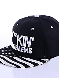 Stripe Letter Embroidery Korean Wave hip-hop Hat