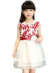 Girl's Casual/Daily Print Dress,Others Summer Black / Red / White