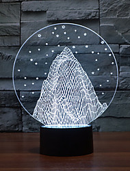 снег гора прикосновение затемнением 3D LED ночь свет 7colorful украшения атмосфера новизны светильника освещения свет рождества