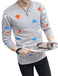 2016 autumn and winter men's sweater sleeve head T-shirt color long sleeve shirt sweater Korean youth tide