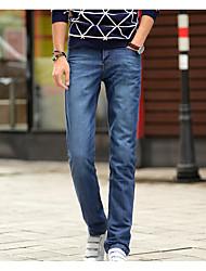 Men's Solid Casual Jeans,Cotton Black / Blue