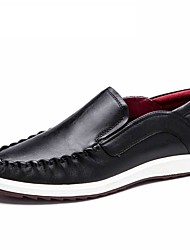 AOKANG Men's shoes Soft Men loafers High Quality Brand Genuine Leather  Men's Flats Driving Shoes