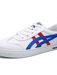 Herren-Sneaker-Outddor / Lässig / Sportlich-Leder-Flacher Absatz-Komfort-Schwarz / Blau