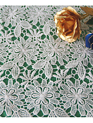 White Apparel Fabric & Trims Fabric Lace