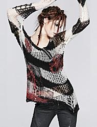 el punk-001 m de la vendimia de las mujeres del delirio / atractiva inelástica jersey de manga larga medio
