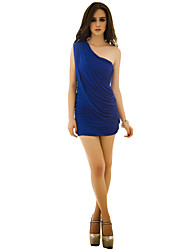 JoanneKitten Women's Fashion Sexy Temperament Slim Thin One Shoulder Dress