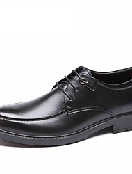 Aokang 2016 New business Men genuine Leather Shoes Flat black brown Male Oxford style classic shoes