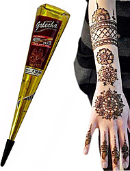 Halloween BLACK COLOR HERBAL HENNA CONES Temporary Tattoo Body ART INK HINA KIT Mehandi(1pcs)