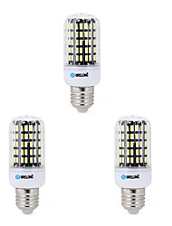 3 pcs e14 / e26 / e27 / b22 led corn lights 108smd 5733 7w 650-700lm blanc chaud / cool blanc 220-240 v