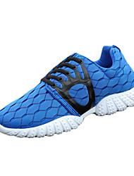 Herren-Sneaker-Sportlich-Tüll-Flacher Absatz-Rundeschuh-Schwarz / Blau / Grün