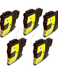 Brother MFC-J220 j270w cartuchos de impressora MFC-J415W j410w lc980bk (30ml preto) Quantidade: uma embalagem de 5