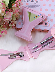 Recipient Gifts - 1Box/Set, Pink Martini Cup Design Manicure Set, Pedicure Set Wedding Favors, Beter Gifts®