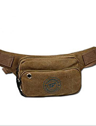 Men Waist Bag Canvas Casual Brown