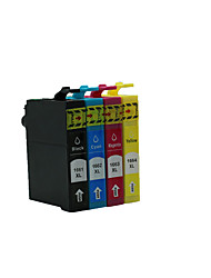 166 T1661 Printer Ink Cartridges,A Pack Of 4 Box, Carton, Different Colors Are: Black, Red, Yellow, Blue