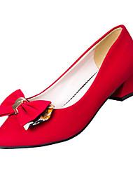 Damen-High Heels-Büro Lässig-PU-BlockabsatzSchwarz Lila Rot Khaki
