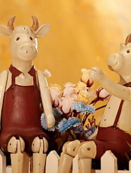 A Pair of Upscale Place Adorn Doll Lovers Puppet Cattle