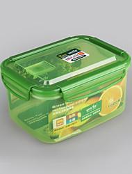 item doméstico bloqueio clipe recipiente de armazenamento de 1,6 litros