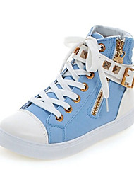 Women's Sneakers Spring / Fall / Winter Comfort / Flats Fabric Outdoor / Athletic /  / Lace-upBlack / Blue / Pink