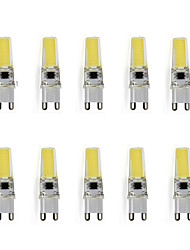 9 G9 Luces LED de Doble Pin T 1 LED de Alta Potencia 450 lm Blanco Cálido / Blanco Fresco Decorativa AC 100-240 V 10 piezas