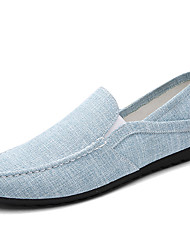 Men's Breathable Linen Upper Casual Loaafers for Fashion Man's Slip-on Driving Shoes