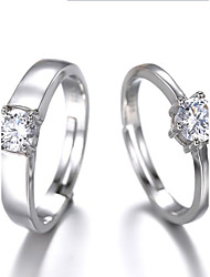 Simulation diamond couple wedding ring