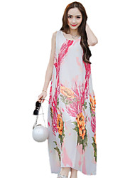 Pink Chiffon Maxi Dress - Lightinthebox.com