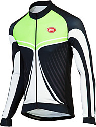 Sports Bike/Cycling Tops Men's Long Sleeve Breathable / Wearable / Windproof / Ultra Light Fabric / Thermal / Terylene