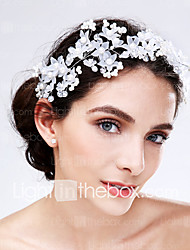 Women's Acrylic Headpiece-Wedding / Special Occasion Flowers 1 Piece Red