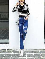 Damen Hose - Einfach Bootcut / Jeans Polyester Mikro-elastisch