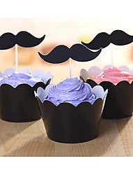 Black Beard Series Cup Cake Side Inserted Card Suit 12 Side Pieces Of +12 Pieces Inserted Card