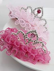 tiaras coreano flor da menina cor aleatória de cabelo tecido clipe