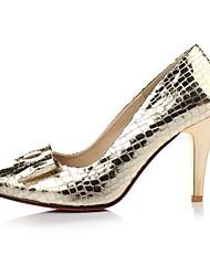 Damen-High Heels-Kleid / Lässig-PU-Stöckelabsatz-Absätze-Silber / Gold